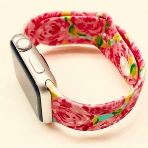38mm/40mm Lilly Pulitzer Rose Apple Watch Band M/L